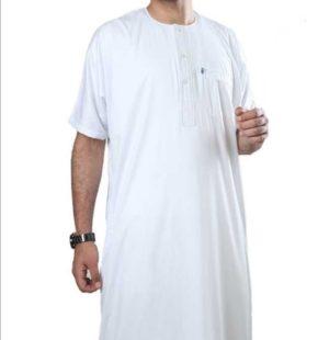 Qamis Ikaf Blanc