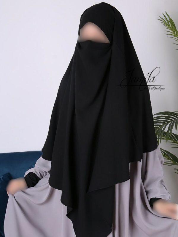 Khimar long Jamila noir