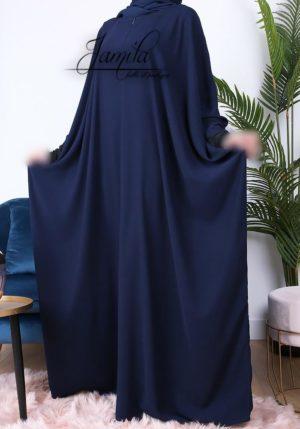Abaya Papillon Bleu Nuit
