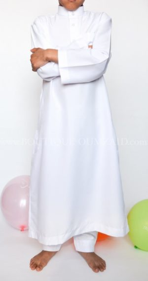 Qamis Saoudien Enfant Blanc